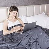 GIGALUMI Weighted Blanket Gewichtsdecke für Erwachsene 120 x 180 cm Schweredecke Grau 7kg...