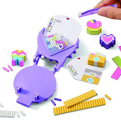 Bandai- Pretty Krazy Pixels-Fabrique à gommes-Set de Luxe-Loisirs créatifs, 38530