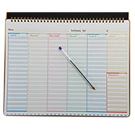 Planning settimanale da tavolo 32 x 22 cm. – Blocco con spirale metallica (SENZA DATE GENERICO)