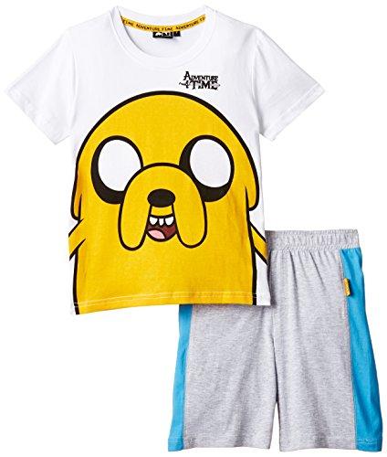 Adventure Time - Set Mare, Bambino, Bianco/Grigio Melange, 7 (6-8 anni)