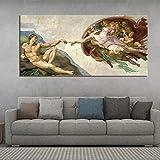 Geiqianjiumai Kreative Poster und Drucke abstrakte berühmte religiöse Wandmaler Dekoration rahmenlose Malerei 50x100cm