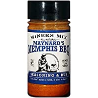 Miners Mix Maynards Memphis BBQ Seasoning. Ultimate Low N Slow Pit Barbecue Championship Rub for Smoked Pulled Pork, Butts, Baby Backs or Spare Ribs. All-Natural With Brown Sugar and Low Sodium