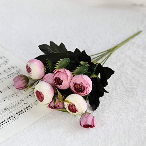 ZWZW Kunstblume künstliche Blume Blume gefälschte Blume Startseite Display Blume,5@