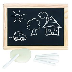 Schreibtafel mit Kreide und Schwamm
