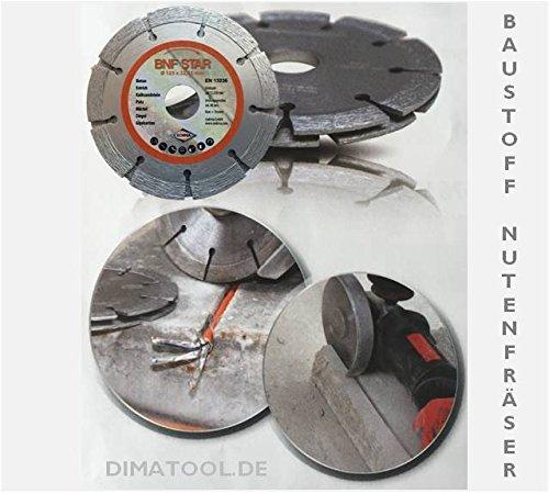 1x 125mm CEDIMA Baustoff Nutenfräser für Kabelschächte in Beton, Putz, Mauerwerk