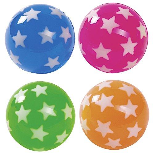 Flummi Stern 45mm 4er Set , Flummy, Gummiball, Springbälle, Mitgebsel zum Kindergeburtstag ,Spielen oder Verschenken