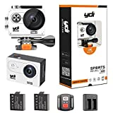 Action Kamera, YDI Wasserdicht Sportkamera Unterwasserkamera Action Camera Cam Camcorder 4K Ultra HD...