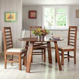 #10: DriftingWood Sheesham Wood Dining Set 4 Seater Solid Wood | Balcony Table Chair Set | Coffee Table | Natural Honey Finish