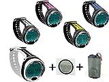 Cressi Tauchcomputer Leonardo UWFUN Set mit Tasche und Ersatzbatterie (Pink)