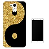 003250 - Gold and black ying yang Design Elephone P7000