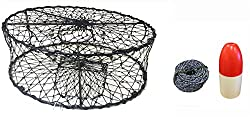 "Kufa Ct50+fws100 Sports Foldable Crab Trap With 11"" Redwhite Bullet Floats"