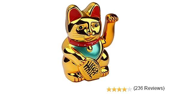 portafortuna cinese 0233 Gatto decorativo che saluta