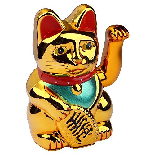 Schramm® Winkekatze Gold Maneki Neko Winkekatze Chinese lucky-cat lucky-cat amuleto de la suerte
