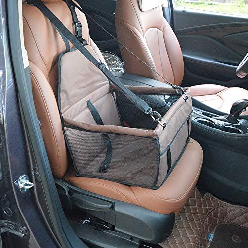 AUMING Haustier Auto Booster Seat Pet Car Booster Sitzträger Tragbare Faltbare Haustier Auto Sitzbezug Mit Sicherheitsgurt Haustier Rear Seat Protector Pet Reise Tragetasche (Color : Coffee)