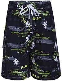 Asvert Bañadores para Hombre Transpirable Pantalones Cortos Short para Deporte de Aire Libre Natación Playa Piscina y Partque Acuático (Verde, XL)