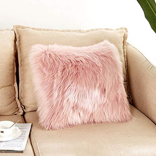 Fundas de almohada, 45 x 45 cm, muy suaves, de lana, de...