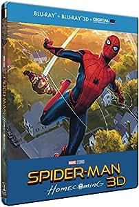 SPIDER-MAN : HOMECOMING - STEELBOOK LIMITE BD 3D + 2D (UV) [Édition Limitée boîtier SteelBook - Blu-ray 3D + Blu-ray + Digital UltraViolet]