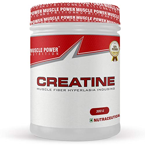 Muscle Power Creatine With Muscle Fiber Hyperlasia Indusing for Muscle Building, Pure Pre/Post Workout Supplement - 300g, (Unflavoured)