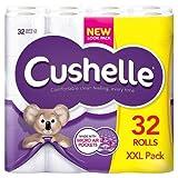 Cushelle weiche Luxus-Toilettenpapier-Rolle, weiß–32Rollen in einer XXL-Packung
