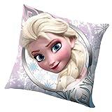 Disney Frozen WD16476Anna e Elsa Fronte-Retro Cuscino di Peluche, 40x 40cm