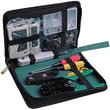 SODIAL(R) 11 en 1 Red de Profesionales de Mantenimiento de Computadoras Reparacion Kit de herramientas Caja de herramientas