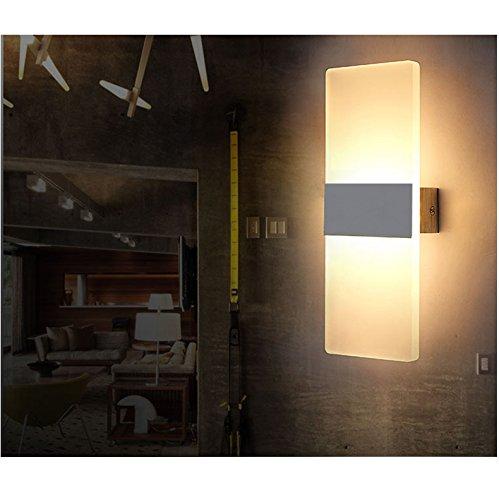 6W LED Wandleuchten Innen aus Kreative minimalistische für Wohnzimmer Schlafzimmer Arbeitszimmer Hotel Flur LED-Acrylwandlampe Warmweiß [Energieklasse A+] 85V~265V 50/60Hz