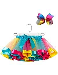 Malloom Niñas Niños Tutu Party Dance Ballet Toddler Baby Costume Skirt + Bow Horquilla Set