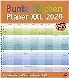 Bunte Wochen Planer XXL - Kalender 2020