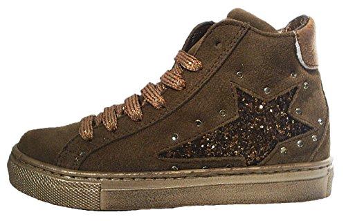 Colpatua Leder High Top Sneaker Glitzer Stern Reißverschluss 31