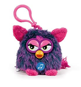 Furby Morado 8cm Llavero Muñeco Peluche con sonido Nuevo Original Hasbro Soft de Play by Play