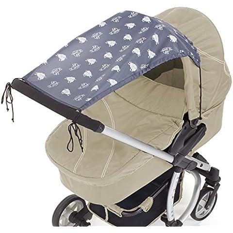 DIAGO - Parasol para cochecito de bebé, color gris