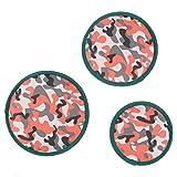 SWEET DEVIL Nouveauté Frisbees pour Chien Disque Volant Jouet Formation de Chien Lot de 3 Diamètre 16 cm 20 cm 22 cm Blanc-Camouflage