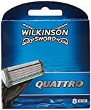 Wilkinson Sword Systems Quattro Men's Razor Blade Refills x 8