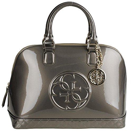 Preisvergleich Produktbild Guess AMY SHINE ASHIP5338 Dome Satchel Damenhandtasche 26x40x18cm pewter
