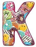 Best Las almohadas Shopkins - iscream micropartículas fleece-backed letra K inicial almohada Review