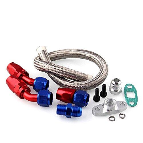 iBellete Auto rimontare T3/T4/T04E Turbo scarico olio kit di ritorno ingresso linea olio Feed Line accessori turbocompressore adattatore accesso