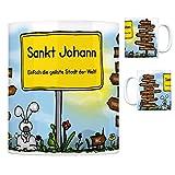 Sankt Johann (Württemberg) - Einfach die geilste Stadt der Welt Kaffeebecher Tasse Kaffeetasse Becher mug Teetasse Büro Stadt-Tasse Städte-Kaffeetasse Lokalpatriotismus Spruch kw Paris Reutlingen