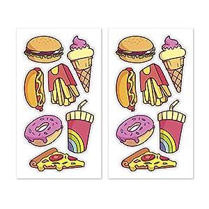 Dekora-231311 Adornos Comestibles de Fast Food para Cupcakes, Muffins, Bizcochos o Tartas Infantiles, color amarillo (231311)