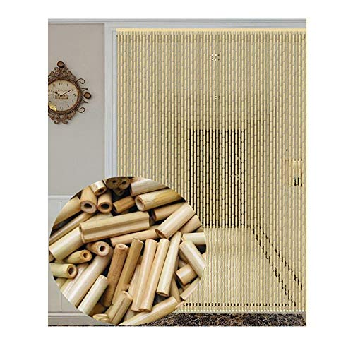 WY Naturholz und Bambus Perlenvorhang Tür String-Vorhang for Doorway Raumteiler Dekoration, 2 Farben, 8 Größen (Color : Natural, Size : 120X200CM) -