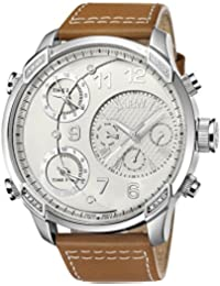 JBW  J6248LM - Reloj de cuarzo para hombre, con correa de cuero, color marrón