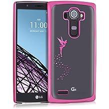 kwmobile Elegante y ligera funda Crystal Case Diseño hada para LG G4 en rosa fucsia transparente