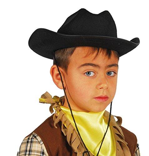 Guirca Fiestas gui13564-Negro Fieltro Sombrero de Cowboy, niños
