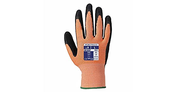 Portwest 1 Pair Pack Amber Cut Level 3 Resistant Hand Protection Glove