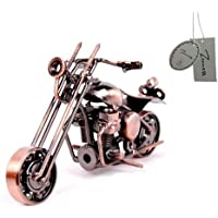 Zenness Handmade Retro Motorcycle Model, Metal Material, Electrolytic Plating Finish Bronze M32A
