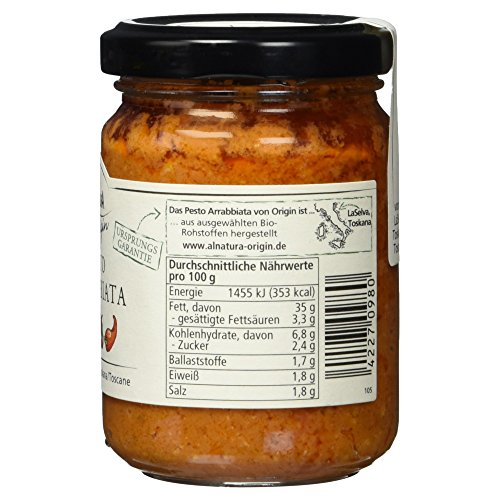 Alnatura Bio Origin Pesto Arrabbiata, 6er Pack (6 x 130 g) - 6