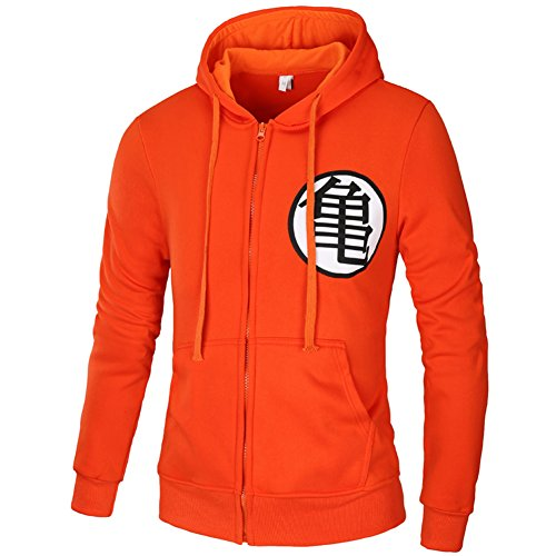 FULANDA Dragon Ball Goku Kame Symbol Zip-Up Sudaderas Para Adultos de