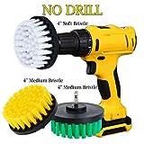 Oxoxo drill Brush–10,2cm media rigidità alimentazione per trapano spazzolone per pulizia doccia, vasca da bagno, piastrelle, intonaco, moquette, gomme, barche