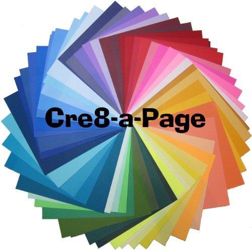 12x 12Spectrum 75pc Probe Karton Papier Multipack, 75Blatt 65# und einige 80#, Karte Lager, Scrapbooking