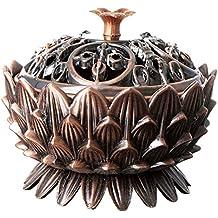Aleación de bronce Mini tibetano del quemador de incienso de cobre de Lotus del quemador de incienso Decoración