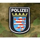 Jackets To Go JTG Ärmelabzeichen Polizei Hessen, schwarz/3D Rubber Patch